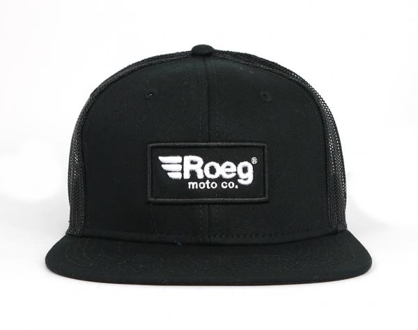 Roeg Black Snapback Cap Black Front