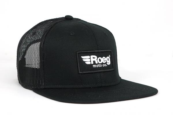 Roeg Black Snapback Cap Black Front Right