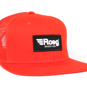 Roeg Black Snapback Cap Orange Front Right
