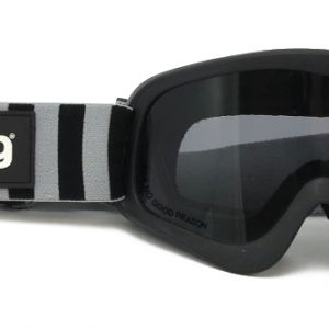 Roeg Peruna Goggles Striped with Black/Fog Strap