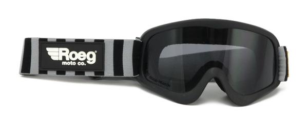 Roeg Peruna Goggles Striped with Black/Fog Strap
