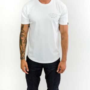 CLUTCH MOTO CLUB TEE WHITE FRONT