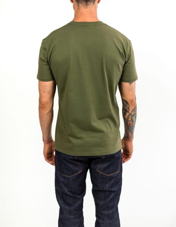 CLUTCH MOTO ICON TEE ARMY GREEN BACK
