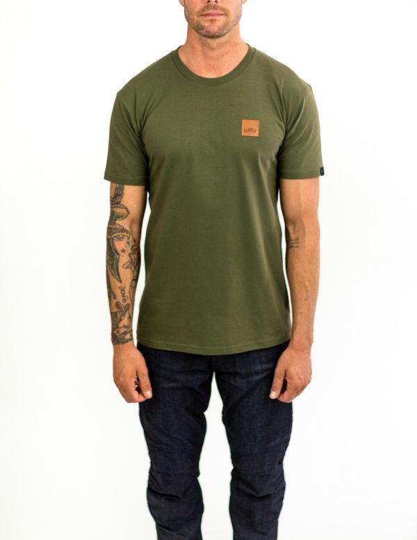 CLUTCH MOTO ICON TEE ARMY GREEN FRONT