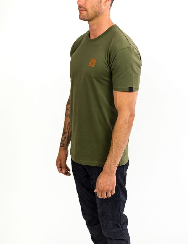 CLUTCH MOTO ICON TEE ARMY GREEN FRONT SIDE