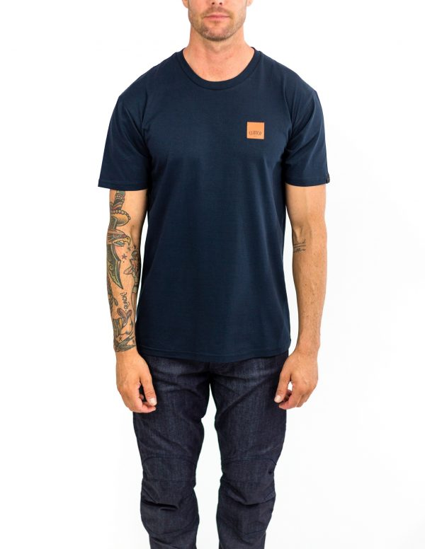 CLUTCH MOTO ICON TEE NAVY FRONT