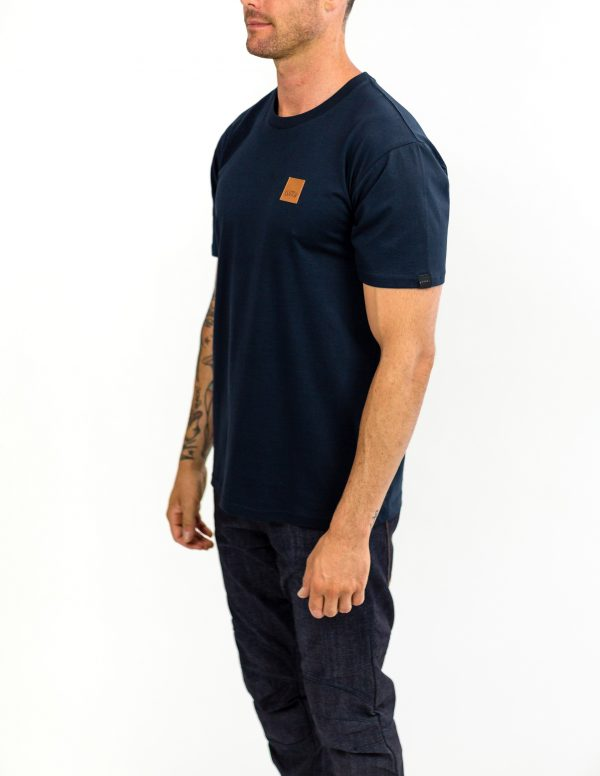 CLUTCH MOTO ICON TEE NAVY FRONT SIDE