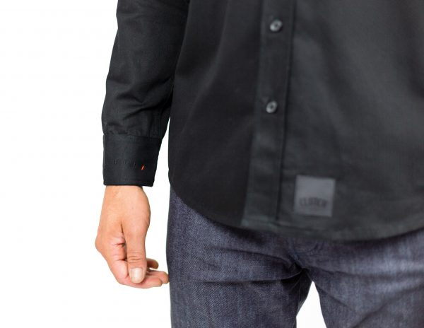 CLUTCH MOTO RECON SHIRT BLACK FRONT DETAIL