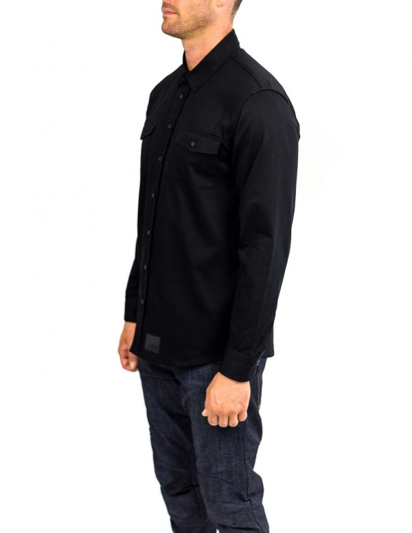 CLUTCH MOTO RECON SHIRT BLACK FRONT SIDE