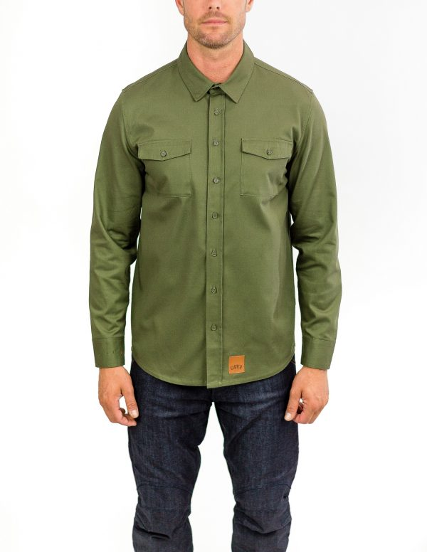CLUTCH MOTO RECON SHIRT MILITARY GREEN FRONT