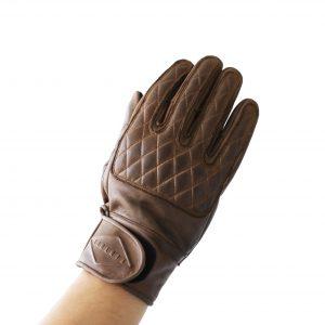 Liberta-Moto-Kiwi-Gloves-Brown-Front